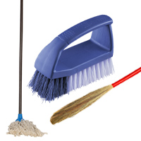 Brooms | Mops | Scrubbers | Cleaning Liquids
